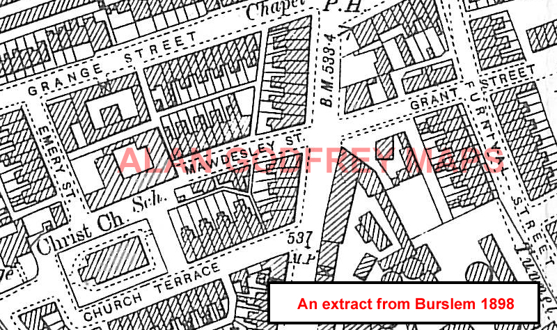 Old Maps of The Potteries Stoke Fenton Burslem Hanley
