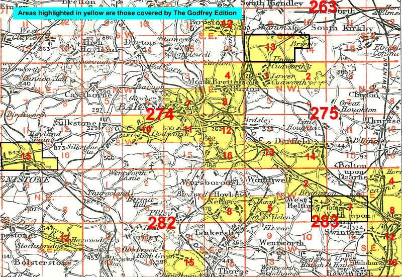 Old Ordnance Survey Map Hoyland Nether /& Common Yorkshire 1903 282.08  New