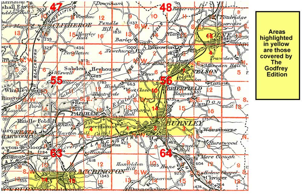 Old Maps of Accrington Blackburn Burnley Colne Nelson