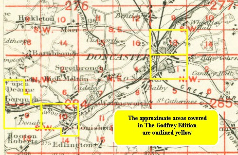 Old historical maps of Doncaster, Conisbrough, Mexborough history