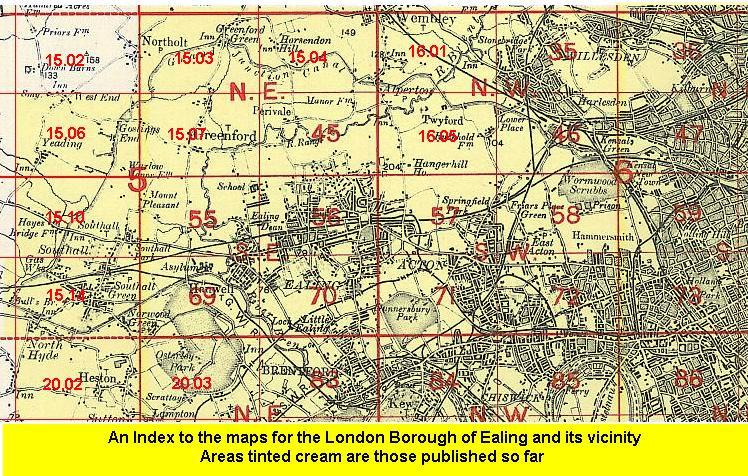 OLD ORDNANCE SURVEY MAP SOUTH EALING 1934 ELTHORNE PARK CEDAR GROVE LAMMAS PARK