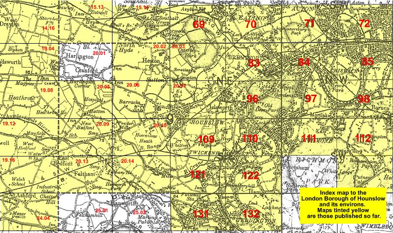 OLD ORDNANCE SURVEYDETAILED MAPS  ISLEWORTH LONDON 1935 Sheet 96