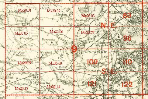 Old Maps of Feltham Bedfont