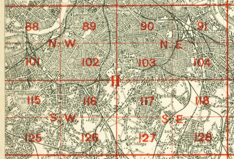 GODFREY EDITION OLD ORDNANCE SURVEY MAPS PECKHAM
