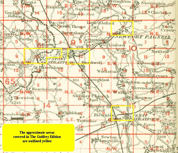Old Maps of Wolverton Bradwell Milton Keynes Bucks