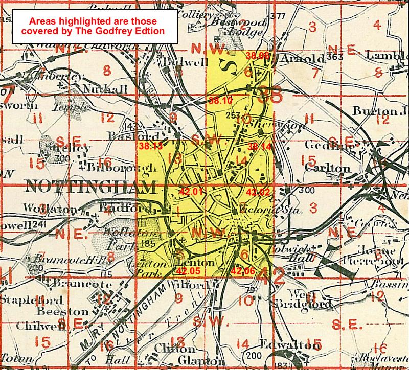 Old ordnance survey maps of Nottinghamshire Notts Nottingham history