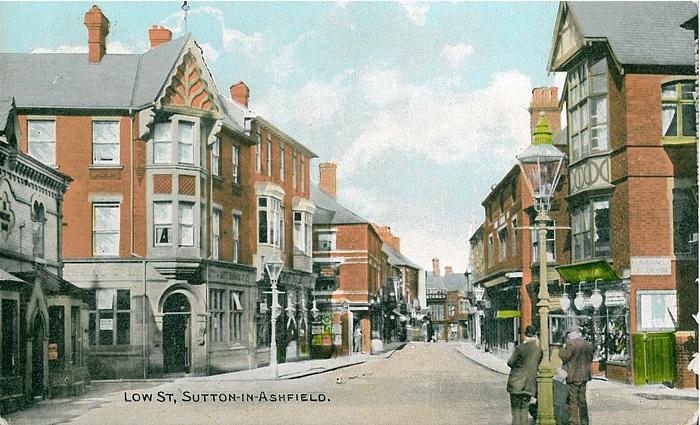 Old Ordnance Survey Maps Mansfield West Nottinghamshire 1914 Godfrey Edition New