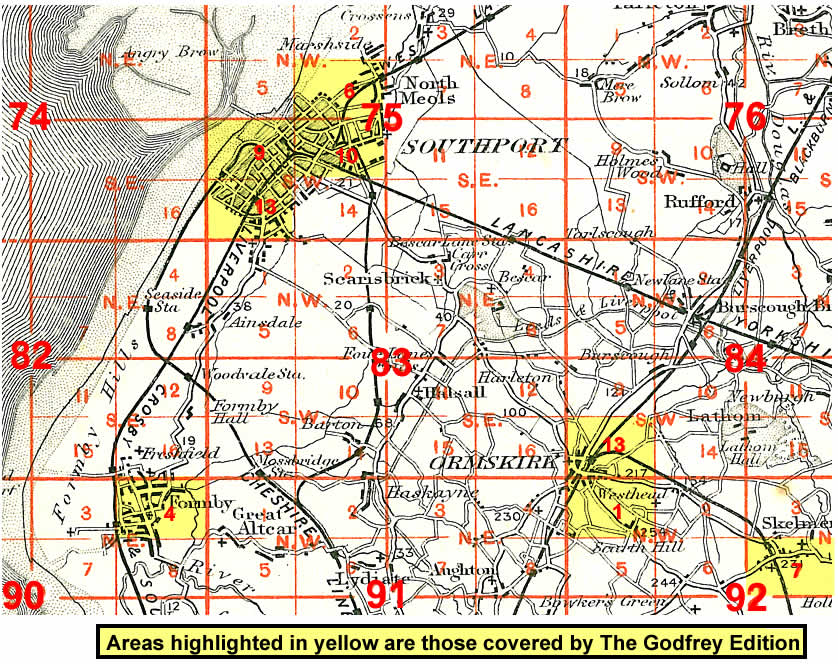 Old Maps Of Sefton Bootle Crosby Birkdale Formby Ormskirk - Old os maps
