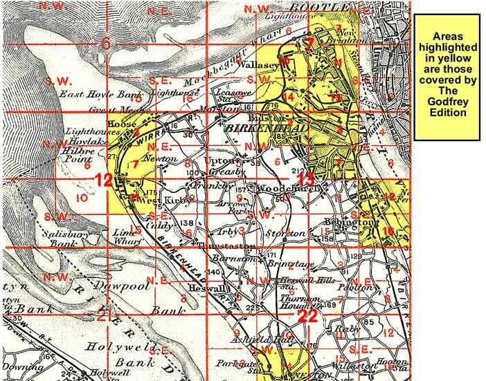 Old Maps of Birkenhead Wallasey Hoylake Neston Tranmere Bidston